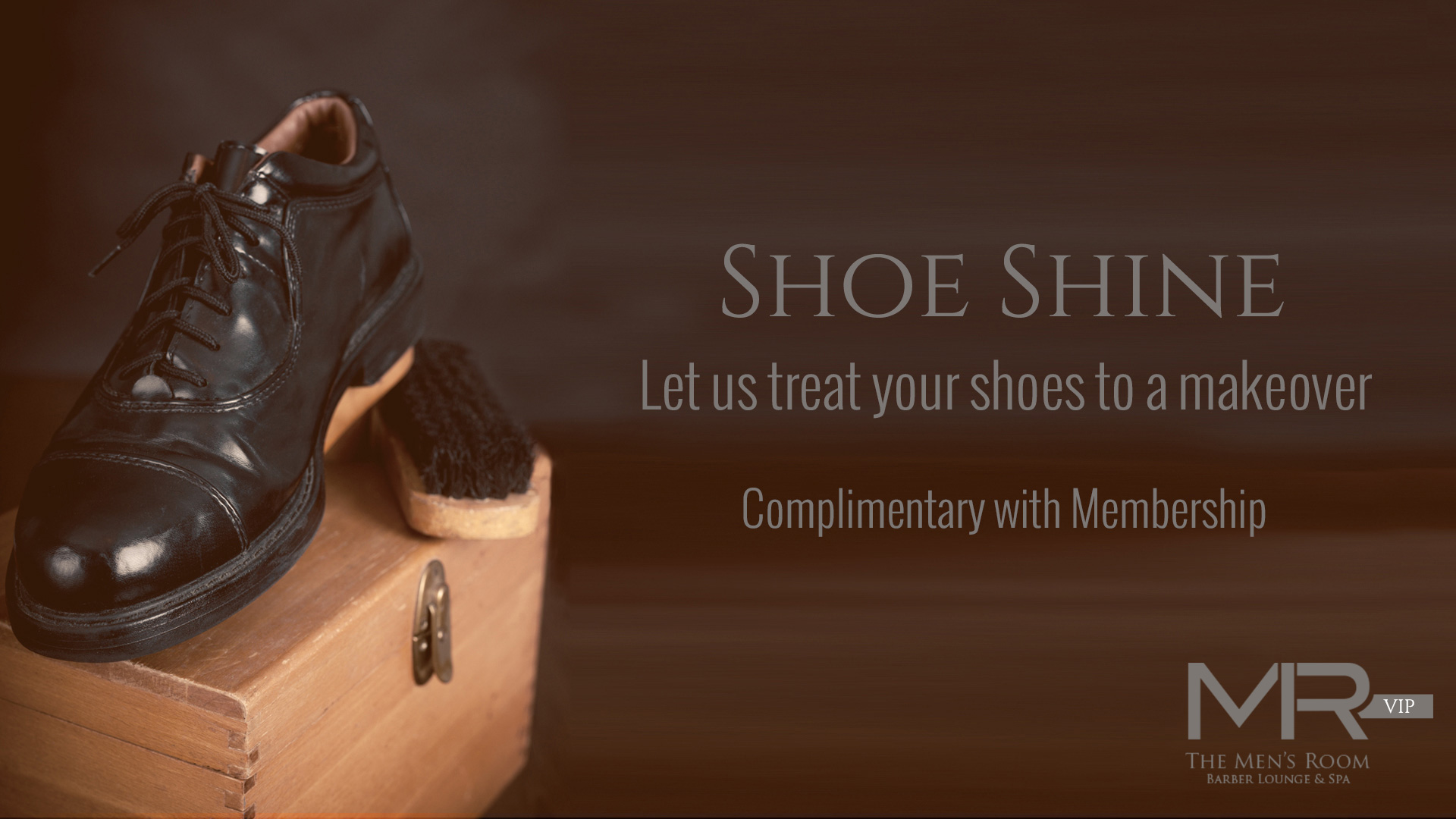 The Men's Room Barber Lounge & Spa Shoe Shine