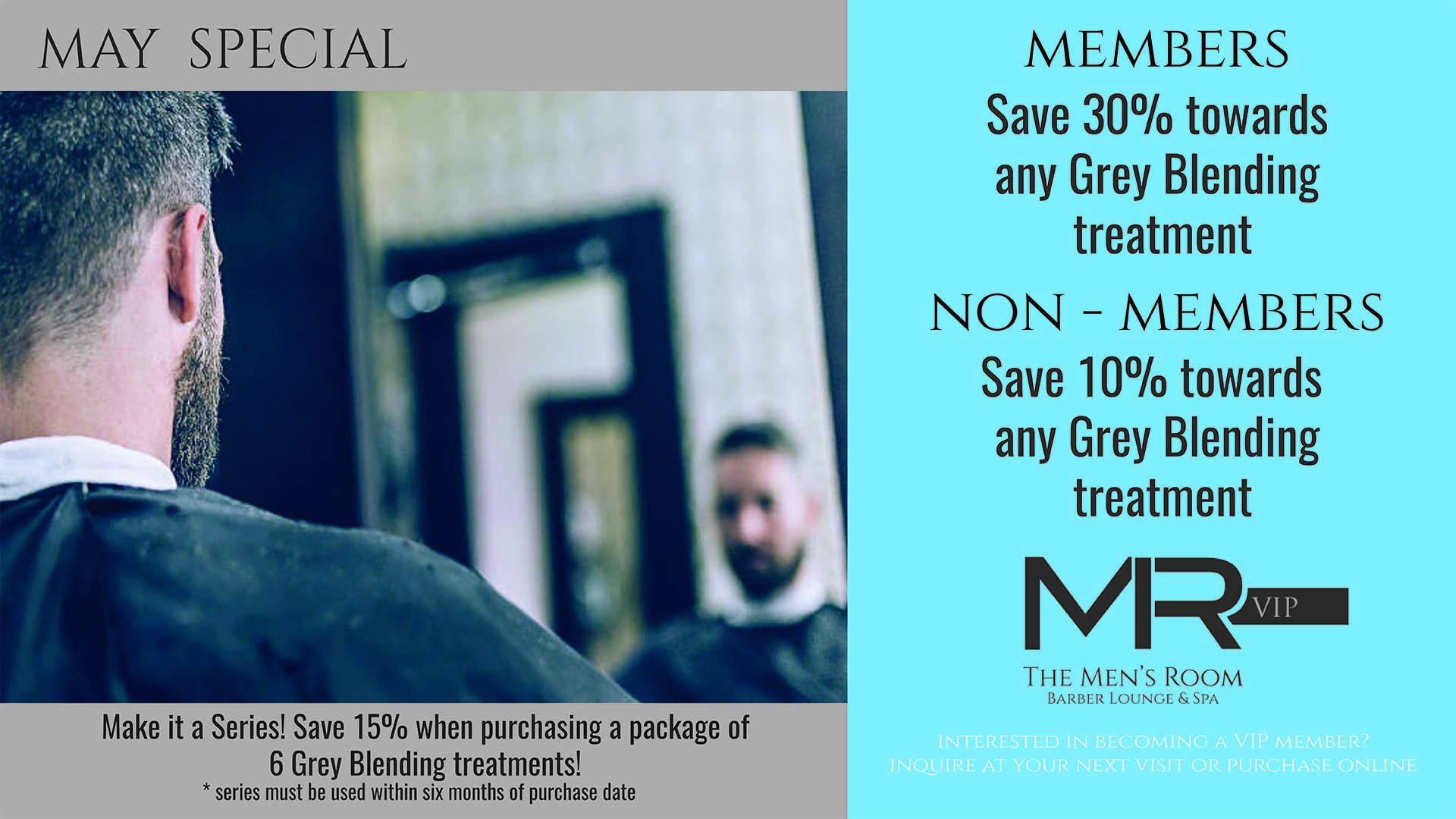 The Men's Room Barber, Lounge, & Spa - May Special